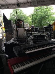 auf der Bühne - Conrads und Toms Sachen