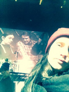 Beim Soundcheck - Nick und Klaus in Familie.