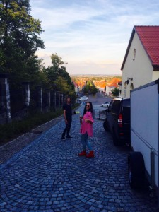Oben auf dem Schlossberg angekommen und erstmal ne Runde ums wundervolle Haus gedreht.